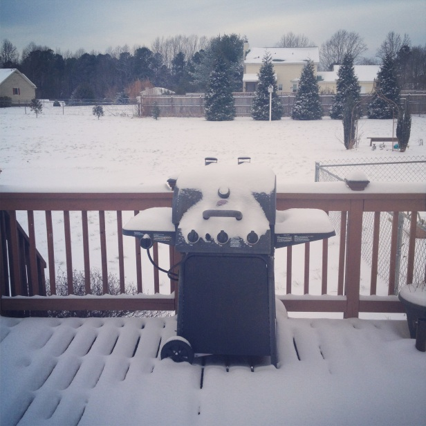 Our grill looks like a grumpy old man!